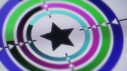 Star shape on the screen. Looping.