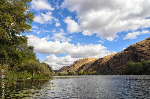 Riverside nearby Mountain Range