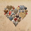 canvas print picture - Heart shaped things in heart shape