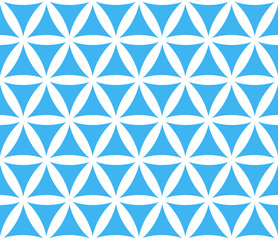 Abstract seamless geometric blue and white pattern