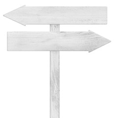 Old weathered wooden roud sign