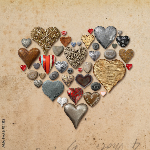 canvas print picture Heart shaped things in heart shape