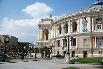 Opera and ballet theater in Odessa, Ukraine