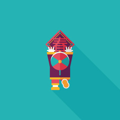Chinese New Year flat icon with long shadow,eps10, the little bo