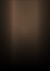 Brushed copper metallic vertical background