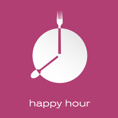 Vector logo Happy hour, restaurant
