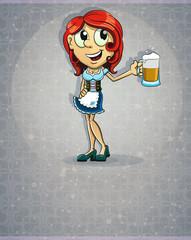 Oktoberfest  redhead girl