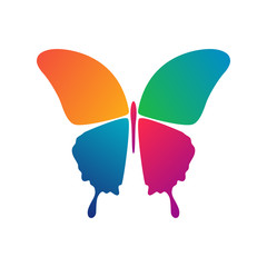 Butterfly conceptual icon