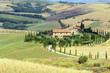 canvas print picture - Crete Senesi (Tuscany, Italy)
