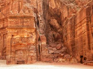 Ruins of Jordanian ancient city of Petra