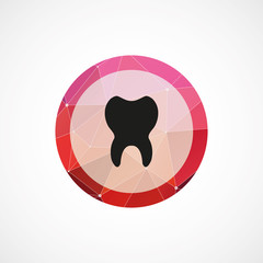 tooth circle pink triangle background icon.