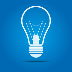 bulb icon with shadow
