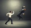young businessmen in fight