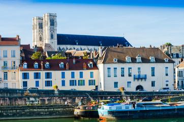 Chalon-sur-Saône, paysage urbain, bourgogne, france