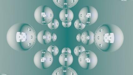 ミラーボール_反射と鏡の背景素材_6