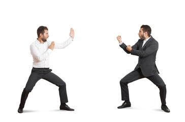 two funny fighters in forman wear