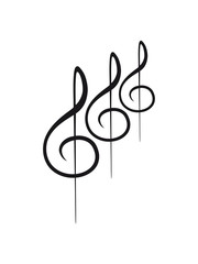 3 Notenschlüssel Muster