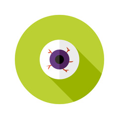 Halloween Eyeball Flat Icon