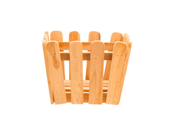 Wood Basket with clipping path