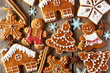 Leinwandbild Motiv Christmas homemade gingerbread cookies
