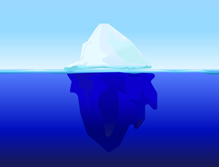 ice berg on water concept vector background