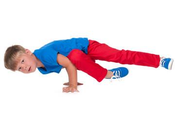 Dancing little boy
