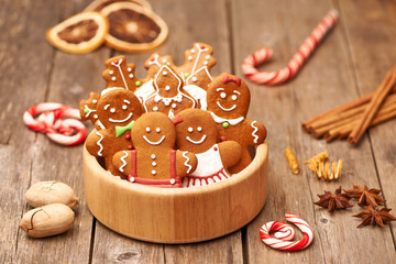 Christmas gingerbread cookies