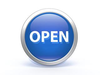 open circular icon on white background