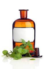 Herbal Medicine Bottle, Blank Label