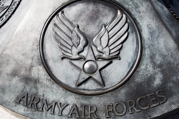 US Army air forces commemorative plaque, WWII memorial