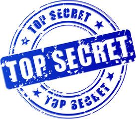 Vector top secret blue stamp