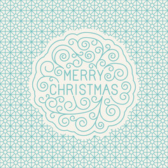 Vector merry christmas hand lettering