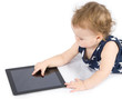 Baby playing with tablet