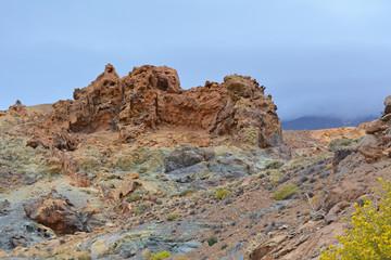 Volcanic landscape on Teide, Tenerife, Canary Islands, Spain