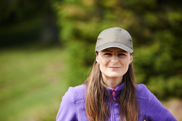 Young woman with cap outdoor
