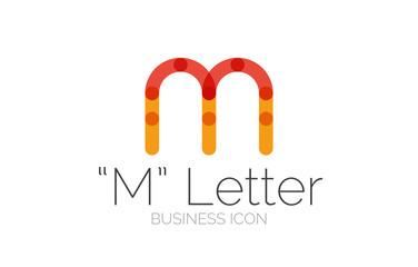 Minimal font or letter logo design