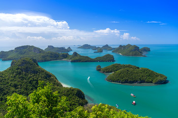 Top view of Ang Thong National Marine Park, Thailand