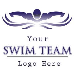 Swim team logo template