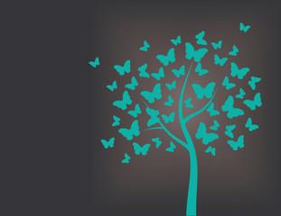 Tree made of butterflies