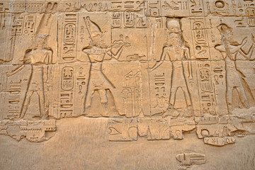 hieroglyphs on wall