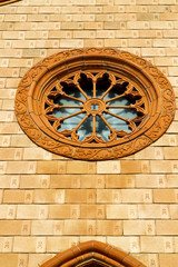 villa cortese italy   church  varese  the old   rose window