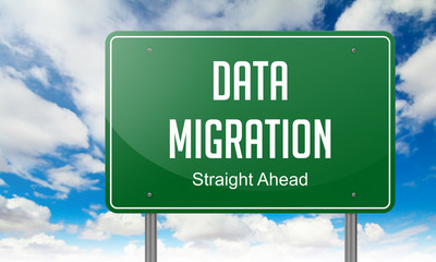 Data Migration on Highway Signpost.