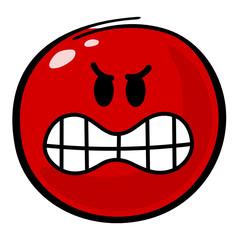 Smiley rot Aggressivität