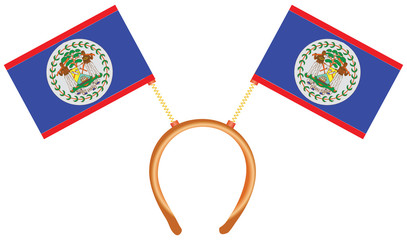 Cool headdress flags Belize