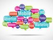 nuage de mots bulles : mobile marketing