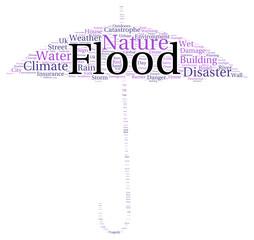 Flood word cloud shape