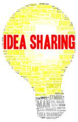 Idea sharing word cloud shape