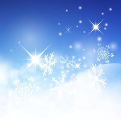 Hintergrund, Winter, blauer Himmel, Schnee, Eis, kalt, abstrakt