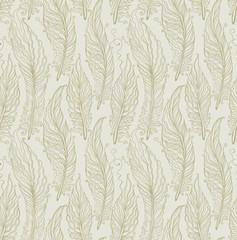 Seamless pattern feathers.