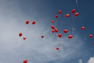 Herzen am Himmel